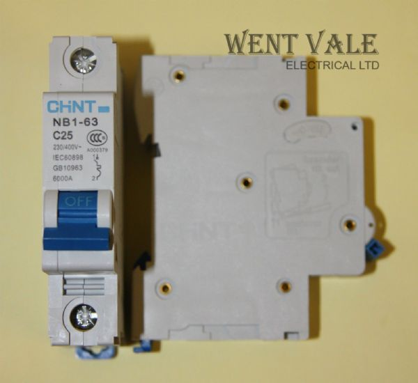 Chint NB1-63-C25 - 25a Type C Single Pole MCB Un-used